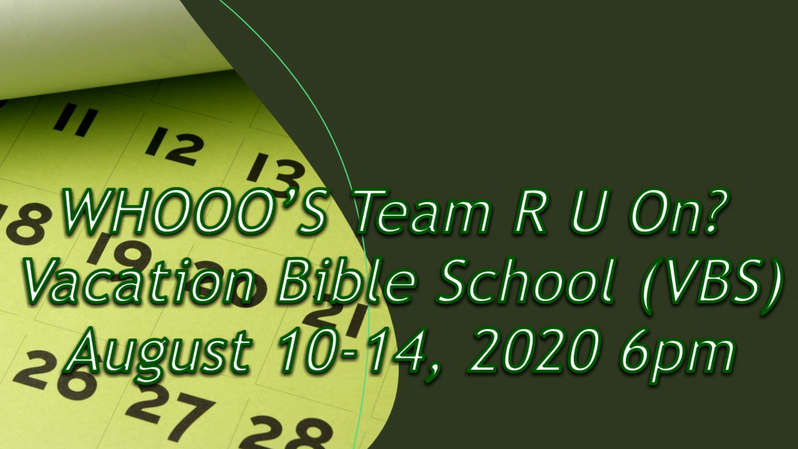 VBS WHOOOS Team R U On 2020