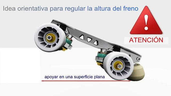 Partes que constituyen una plancha con ruedas