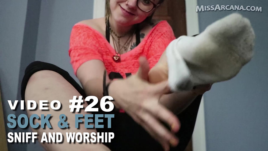Video 26 Sock and Foot Sniff and Worship