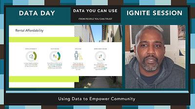 Data Day 2020 - IGNITE - Using Data to Empower Community