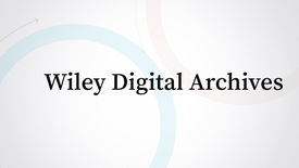 Client: John Wiley & Sons, Wiley Digital Archives