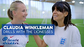 Claudia Winkleman Meets Lionesses - FIFA Women's World Cup 2019