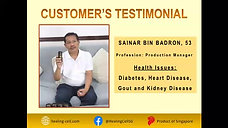 Suffers from Diabetes, Heart Disease, Gout and Kidney Disease