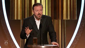 Miss This Yet Ricky Gervais ROASTS Arrogant Hollywood Actors at Golden Globes