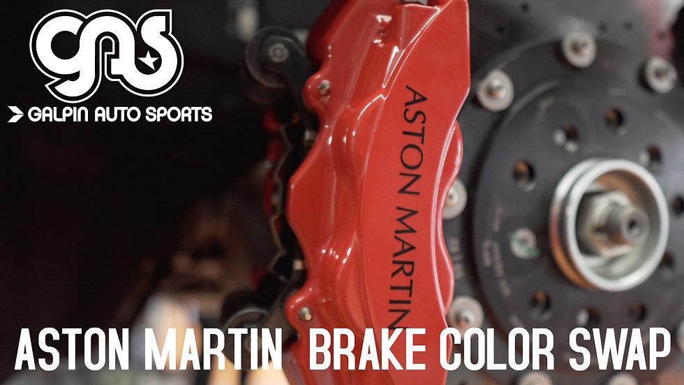 2020 Aston Martin Caliper Color Change