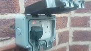 Outdoor socket installation