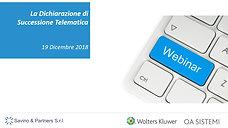 Corso sulla Dichiarazione Di Successione Telematica