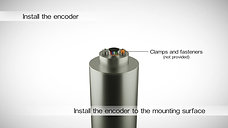 Installation video  RM08 super small non-contact rotary encoder