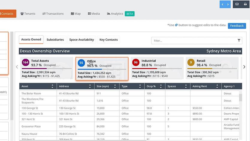 Arealytics - Owner Information Module