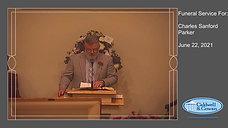 Funeral Service for Charles Sanford Parker