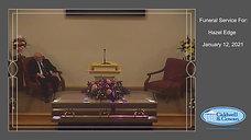 Funeral Service for Hazel Edge