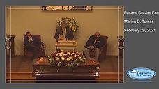 Funeral Service for Marion D. Turner
