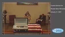 Funeral Service for Ronald Glenn Richards