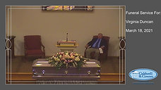 Funeral Service for Virginia Duncan