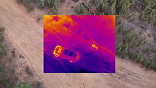 Checking the engine temp with the Flir Duo Pro R Picture in Picture