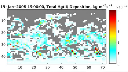 Hourly Atmospheric Deposition Fluxes