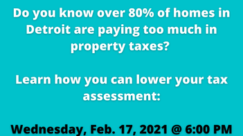 DJC Talks Detroit Property Tax Assessment