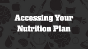 Accessing Your Nutrition Plan