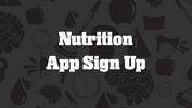 Nutrition App Sign Up