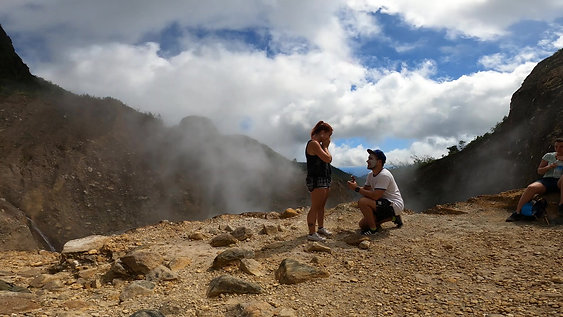 Proposal at the Boiling Lake