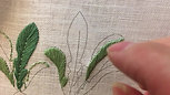 Satin Stitch for Leaves 2