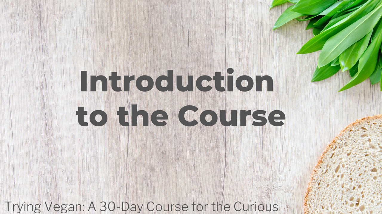 Trying Vegan: A 30-Day Course for the Curious