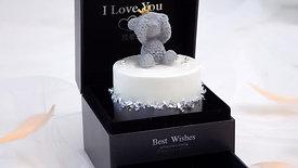 Teddy Valentine Cake