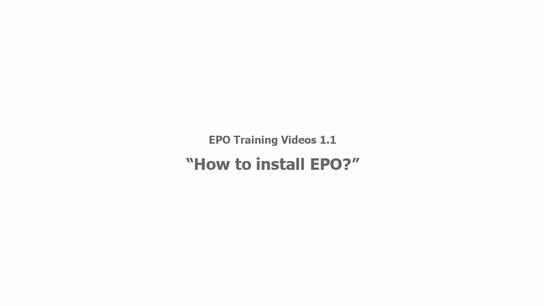How to Install EPO