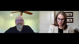 Councilmember Kiki Miller interviews Alex Harris, Title XI Coordinator for North Idaho College