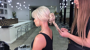 Bridal twisted Up do + Learn how to create a low textured pony along the way