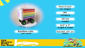 #11 Rainbow Cake / Piece of Cake