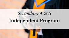 Secondary 4 & 5 Independent Program