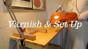 varnish and set up