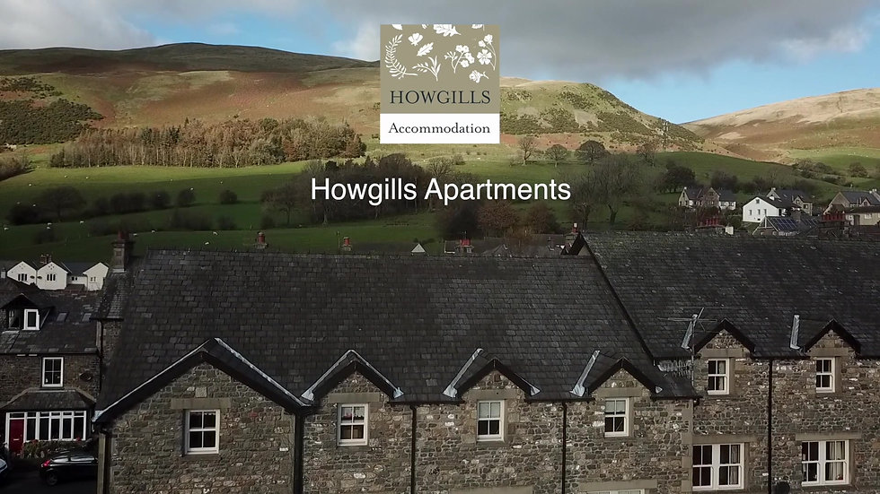 Howgills Apartments in Sedbergh - an ariel view