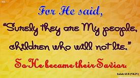 """""""He Became Their Savior"""" (Sunday, December 29, 2019)"""