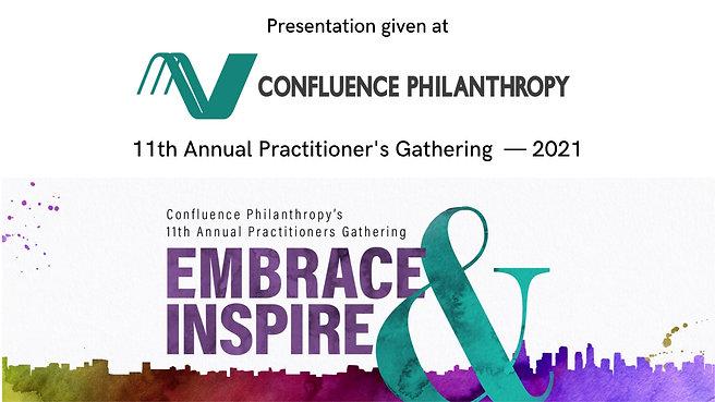 Confluence Philanthropy Keynote — 2021