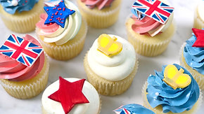 British Themed Cupcakes