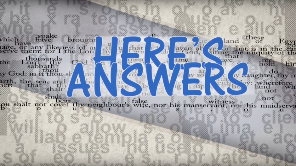 Here's Answers Tv Show