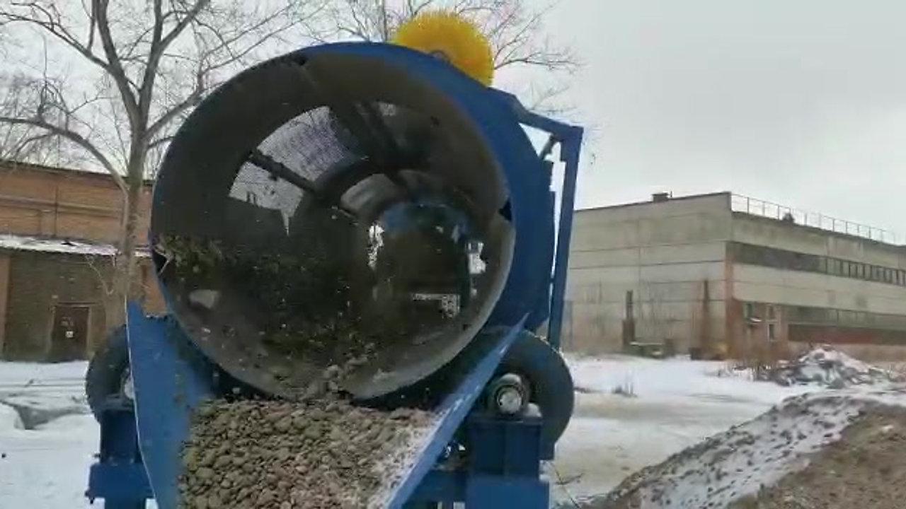Барабанный грохот для просева песка МБГ-100 принцип работы