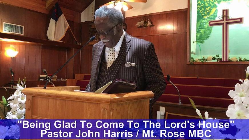 Pastor Harris - Mt Rose - June 7 2020