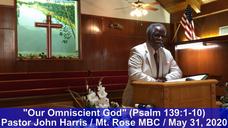 Pastor Harris - Mt Rose - May 31 2020