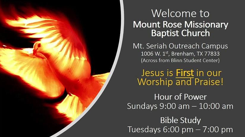 Rev Williams Online Sermon (04052020)