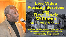 Rev Williams - March 22 2020