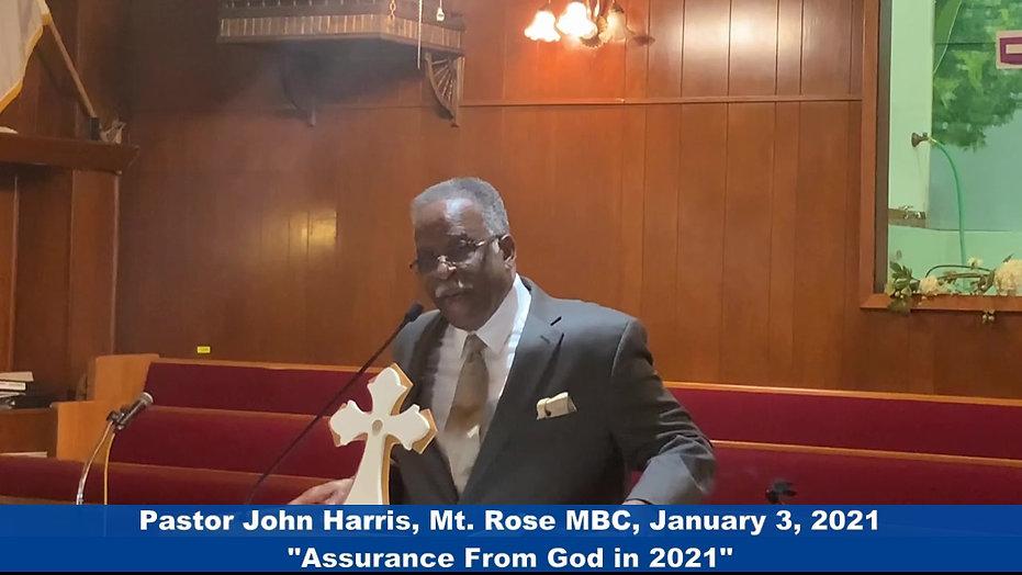Pastor Harris - Mt Rose - Jan 3 2021