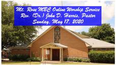 Pastor Harris - Mt Rose - May 17 2020