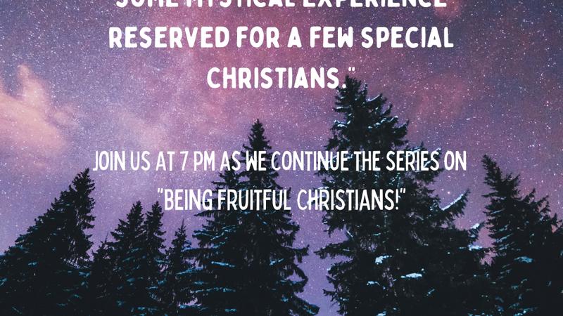 Being Fruitful Christians:Joy
