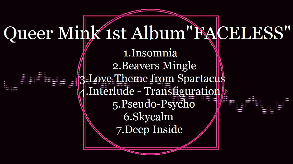 """Queer Mink 1stアルバム""""FACELESS""""ティザー映像"""
