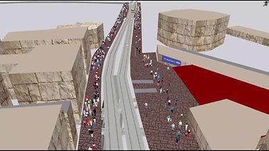 Micro-Simulation in a Street מיקרו-סימולציה ברחוב