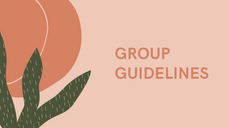 Group Guidelines