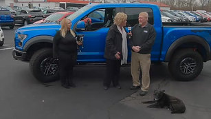 Dogs greet customers at Inskeep Ford!